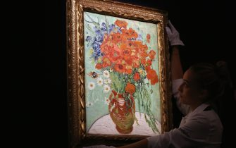 <<enter caption here>> at Sotheby's on October 10, 2014 in London, England.
