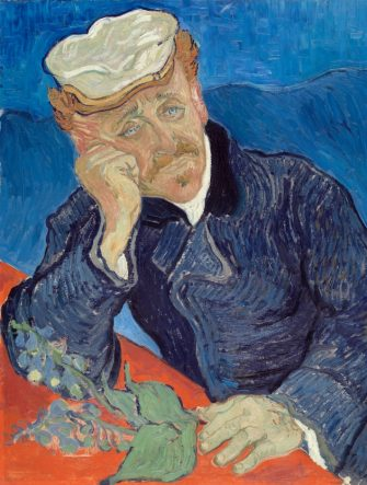 Portrait of Dr Paul Gachet by Vincent van Gogh (Dutch, 1853 - 1890); oil on canvas, 1890, from the Musee d'Orsay, Paris. (Photo by GraphicaArtis/Getty Images)