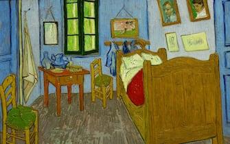 NETHERLANDS - JANUARY 01:  La chambre de Van Gogh a Arles. Oil on canvas (1889). 57,5 x 74 cm. Gemaelde von Vincent Van Gogh.  (Photo by Imagno/Getty Images) [La chambre de Van Gogh a Arles. Gemaelde. 1889]