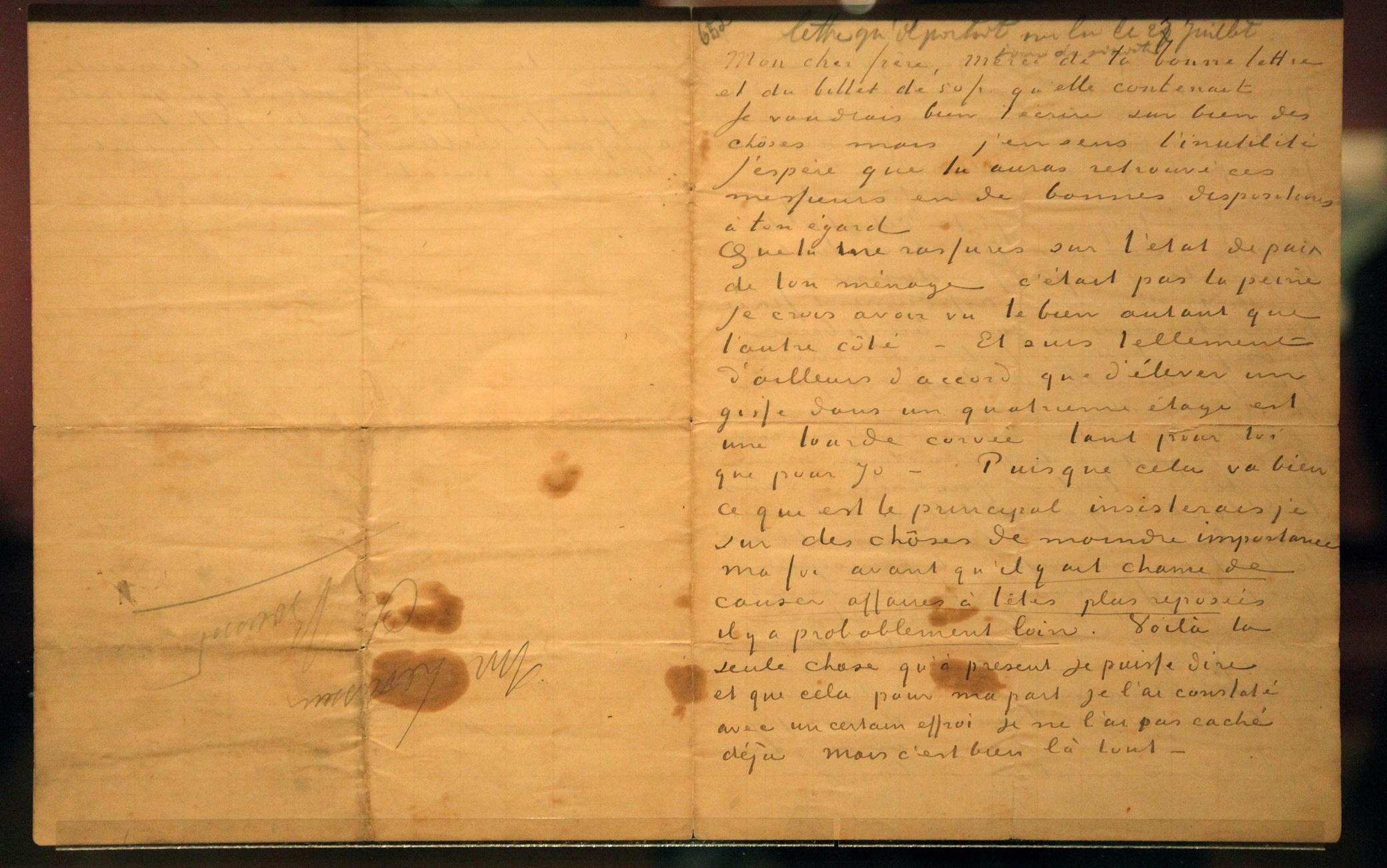 Una lettera di Vincent Van Gogh