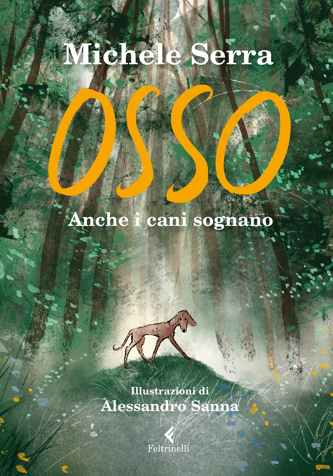 """La copertina di """"Osso"""" di Michele Serra disegnata da Alessandro Sanna"""