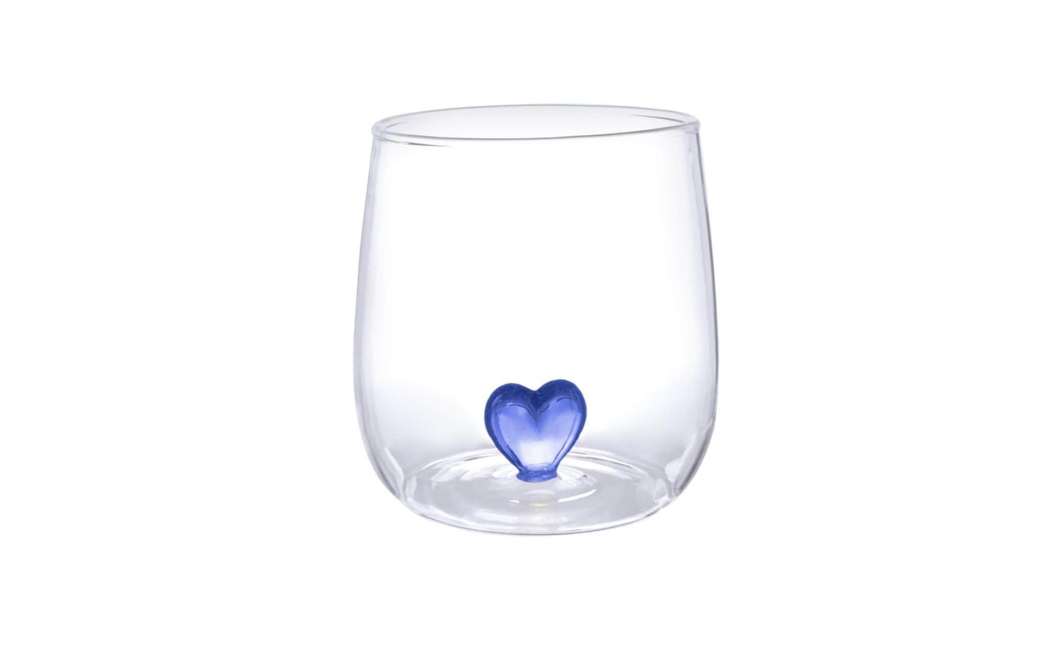 Bicchiere cuore blu Kasanova