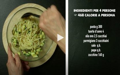 Carbonara vegetariana, la ricetta facile e veloce