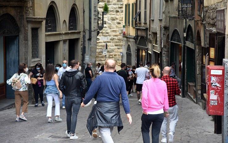 La folla a Bergamo