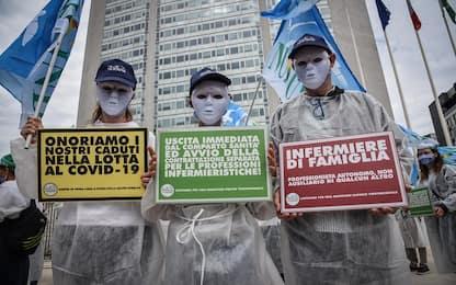 Coronavirus Milano, flash mob infermieri sotto sede Regione. VIDEO