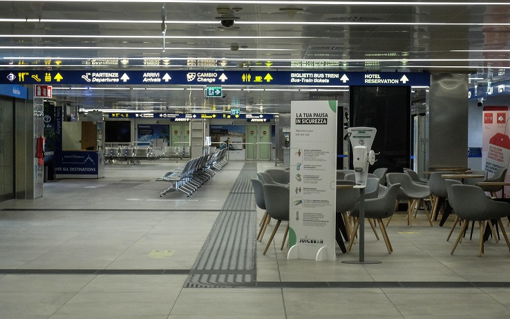 Linate airport on the eve of reopening, after the lockdown to the emergency Covid-19, Milan, Italy, 12 July 2020.  ANSA / Matteo Corner