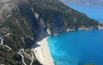 Una spiaggia in Cefalonia, Grecia