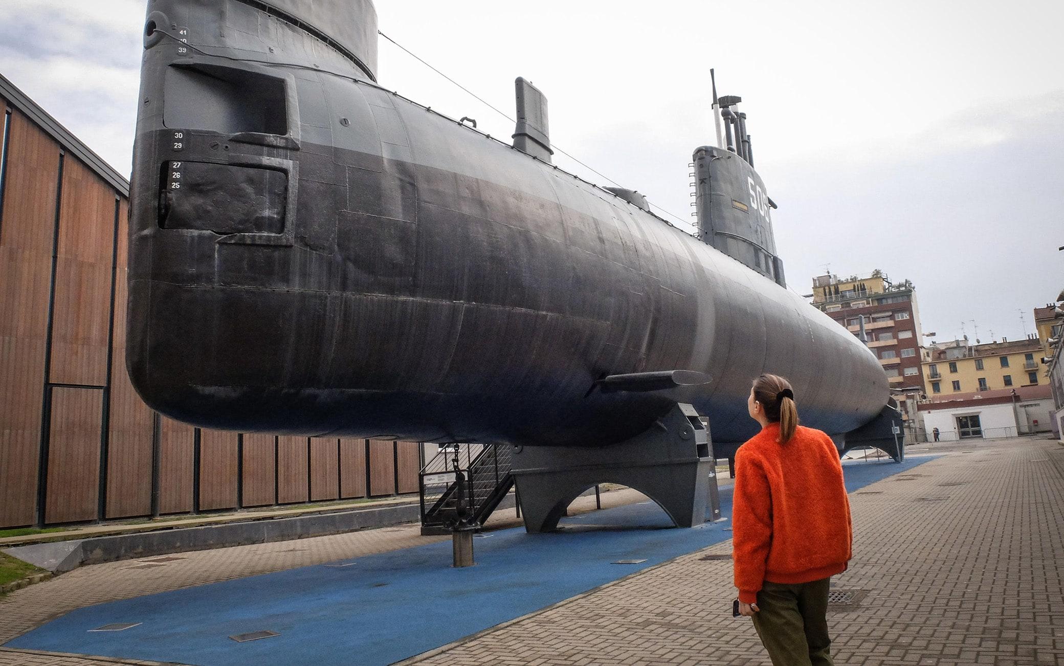 Rimasto chiuso il sottomarino Toti alla riapertura, dopo la pausa dovuta all'emergenza del coronavirus Covid-19, del Museo della Scienza e Tecnologia, Milano, 3 marzo 2020. Ansa/Matteo Corner