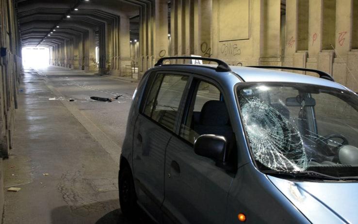 Milano. Incidente stradale tra un auto e un monopattino nel sottopasso Mortirolo