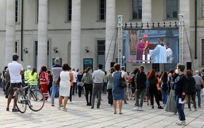 Prete ucciso, a Como la messa con l'elemosiniere del Papa