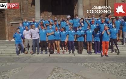 Coronavirus, al via la staffetta Codogno-Vo' Euganeo. VIDEO