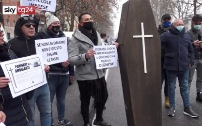 Covid, protesta ristoratori: in corteo dalla Brianza a Milano. VIDEO