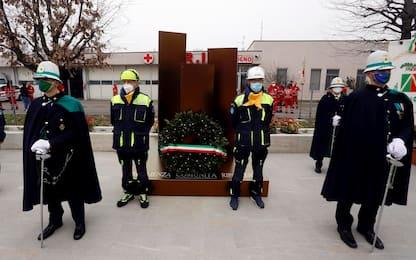 Covid, a Codogno inaugurato il Memoriale per le vittime