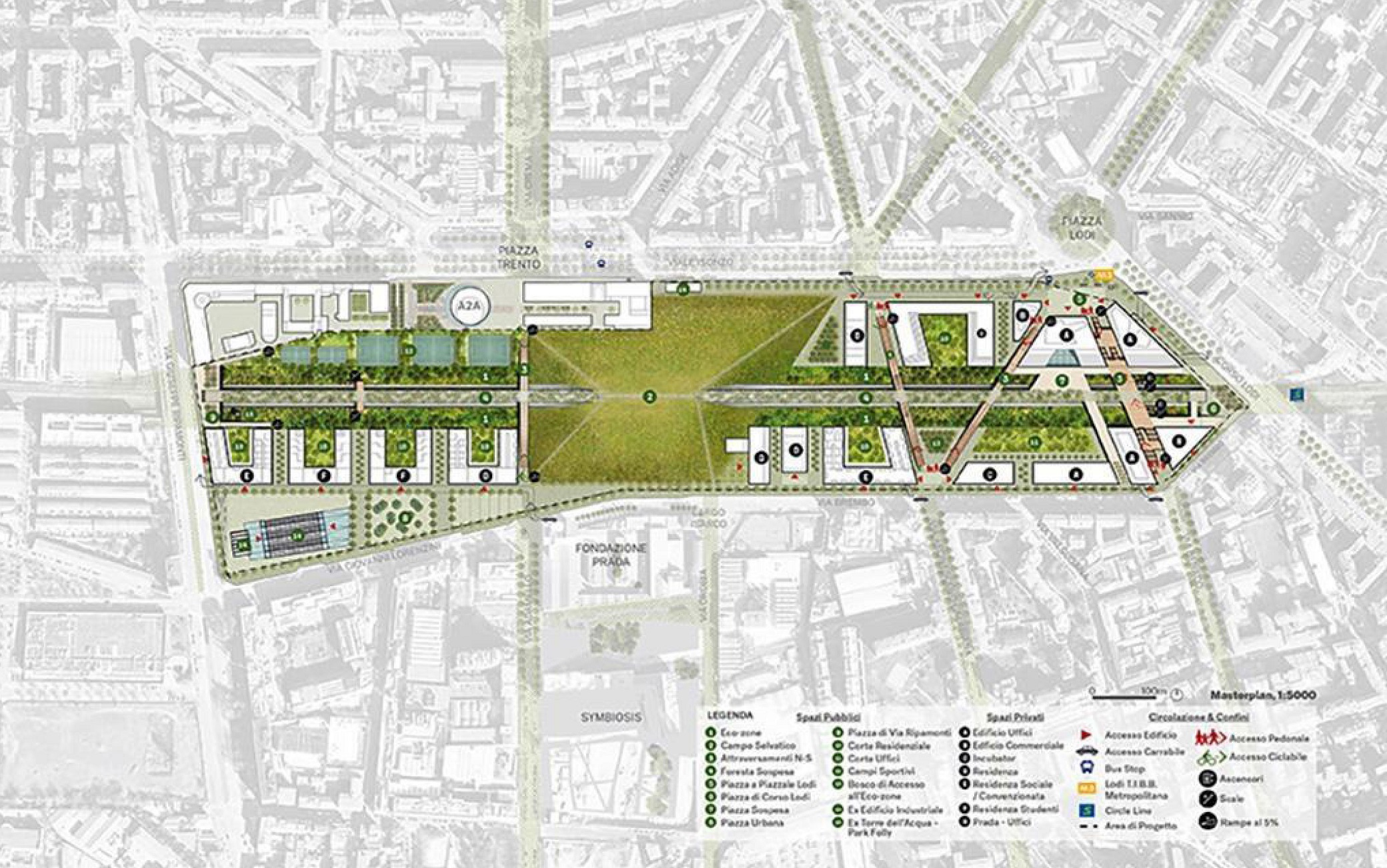 E' guidato da Outcomist il team che firma il progetto 'Parco Romana' per il masterplan scelto tra sei team finalisti