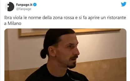 Milano, Ibrahimovic al ristorante nonostante la zona rossa: è polemica