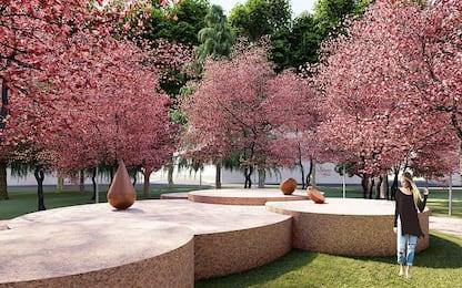 Milano, inaugurato il giardino zen Teresa Pomodoro in piazza Piola