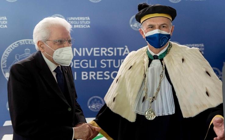 Sergio Mattarella all'università di Brescia