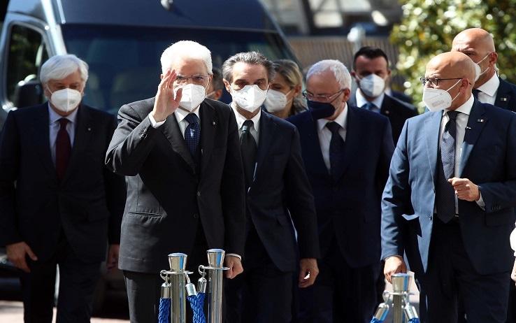 L'arrivo del Presidente della Repubblica all'università di Brescia