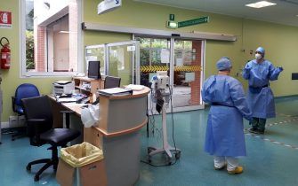The ER ward at the hospital at Codogno, the Lombardy town hit first by the coronavirus emergency in February, reopened on Thursday and immediately reported a suspected new case of COVID-19, Codogno, Italy, 4 June 2020. The ER was closed down on the night of February 20-21 when Italy's first coronavirus patient, a man named Mattia, was detected. Ansa/Francesca Brunati