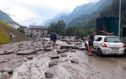 Maltempo in Lombardia, violento acquazzone in provincia di Sondrio