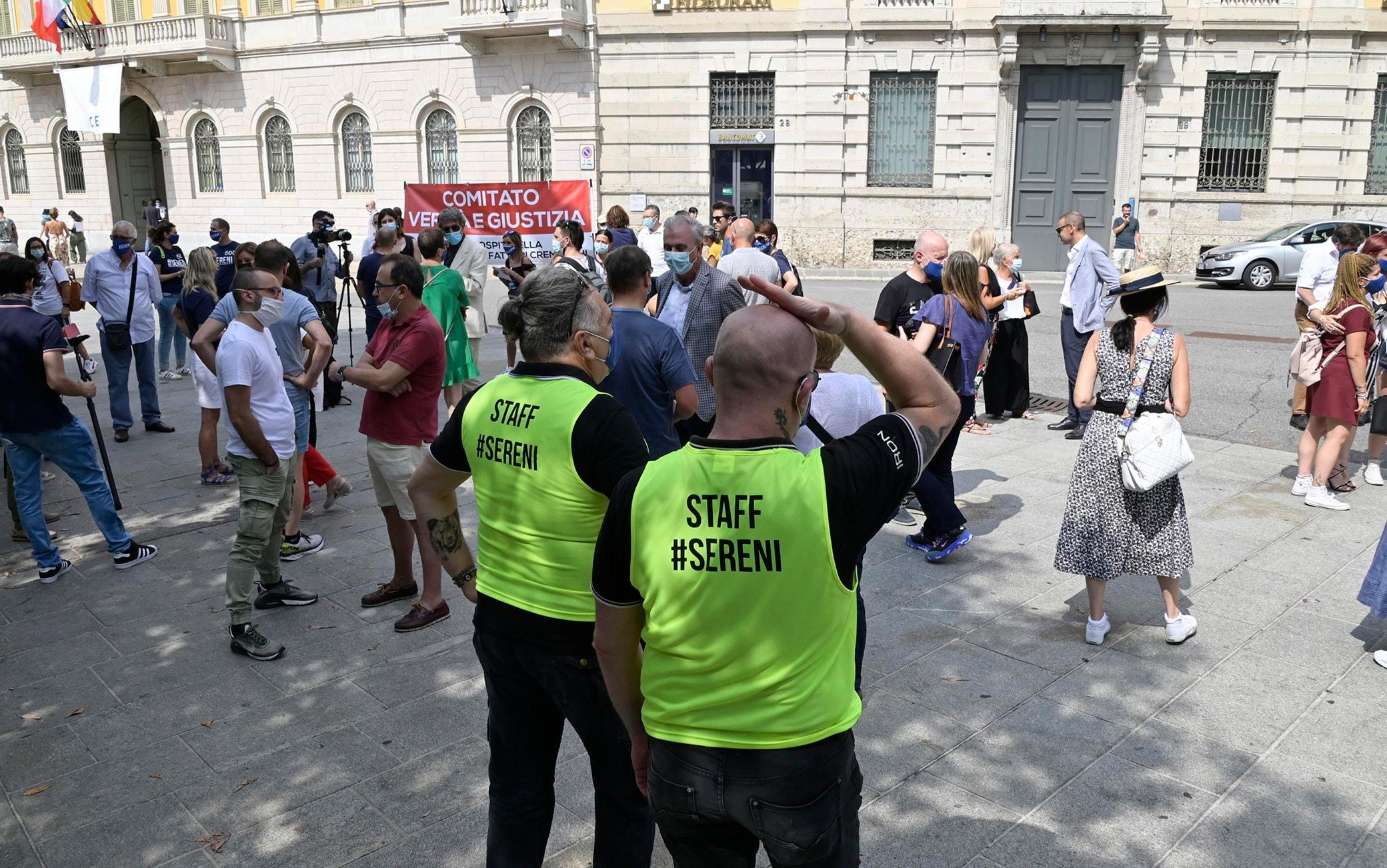 La protesta a Bergamo