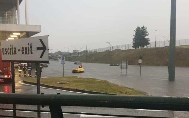 La situazione a Malpensa durante il nubifragio