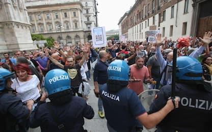 Green pass: tensioni durante manifestazione a Milano, 41 indagati