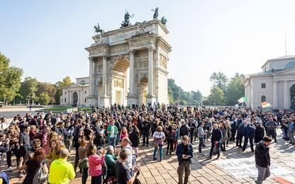 Corteo No Green pass a Milano, perquisizioni a carico di tre indagati