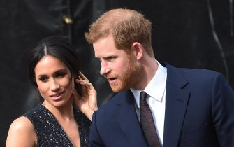 epa07093955 (FILE) - Britain's Prince Harry and Meghan Markle attend the memorial service to commemorate the 25th anniversary of the murder of Stephen Lawrence in St Martins in the Field, central London, Britain, 23 April 2018. The Kensington Palace has announced on 15 October that the couple are expecting their first baby in the Spring of 2019.  EPA/FACUNDO ARRIZABALAGA