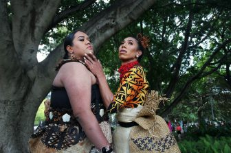 SYDNEY, AUSTRALIA - FEBRUARY 29: Drag Queens Anita Maka from Tonga and Sarina Leilua from Samoa pose in Hyde Park during  the 2020 Sydney Gay & Lesbian Mardi Gras Parade on February 29, 2020 in Sydney, Australia.  The Sydney Mardi Gras parade began in 1978 as a march and commemoration of the 1969 Stonewall Riots of New York. It is an annual event promoting awareness of gay, lesbian, bisexual and transgender issues and themes. (Photo by Lisa Maree Williams/Getty Images)