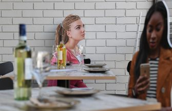 "SYDNEY, AUSTRALIA - MAY 14: Cardboard cutouts of human beings sitting at tables inside the Five Dock Dining restaurant on May 14, 2020 in Sydney, Australia. Restaurants and cafes in New South Wales are preparing to reopen with social distancing measures in place as the state government relaxes COVID-19 restrictions.  From Friday 15 May cafes, restaurants and hotel dining areas are allowed to reopen but can only seat 10 patrons at a time and for at least four square metres of space per person. To make patrons feel more comfortable and like they are having a regular dining experience, Five Dock Dining owner Frank Angeletta will use cardboard customers to fill the empty space in his restaurant along with having taped background noise simulating guest ""chatter"" playing for ambience. (Photo by James D. Morgan/Getty Images)"