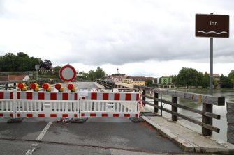 BAD FUESSING, GERMANY - MAY 14: A temporarily closed border crossings point between Bavaria/Germany and Austria is pictured at Kirchdorf am Inn near Bad Fuessing during the novel coronavirus crisis on May 14, 2020 near Bad Fuessing, Germany. Germany has announced a timetable for relaxing border restrictions that have been in effect since March as part of measures meant stem the spread of the virus. The timetable includes fully opening the border to Luxembourg starting May 16 and the borders to Austria, France and Switzerland by June 15. Until then every car will no longer be checked as is currently the practice, where only drivers with an adequate reason, such as commuting to work, are allowed to cross. Commercial and tourism interests have been pleading for a reopening of the borders. (Photo by Alexander Hassenstein/Getty Images)