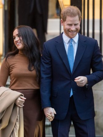 LONDON, ENGLAND - JANUARY 07: Prince Harry, Duke of Sussex and Meghan, Duchess of Sussex visit Canada House on January 07, 2020 in London, England. (Photo by Samir Hussein/WireImage)