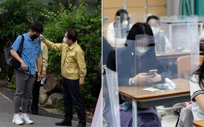Coronavirus, il ritorno a scuola in Corea del Sud. FOTO