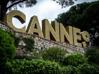 CANNES, FRANCE - MAY 11: The Cannes sign is seen on May 11, 2020 in Cannes, France. The 73rd Cannes Film festival was due to start on May 12, but due to the coronavirus crisis, the festival has cancelled its physical edition for 2020. The festival will collaborate with the fall festivals such as Venice Film Festival. The Coronavirus (COVID-19) pandemic has spread to many countries across the world, claiming over 280,000 lives and infecting over 4 million people. (Photo by Arnold Jerocki/Getty Images)