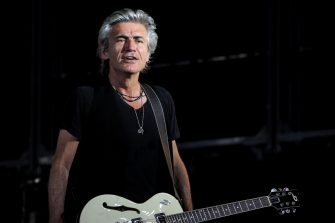 """BOLOGNA, ITALY - JULY 06: Italian musician and author Luciano Ligabue performs on stage a """"Start"""" tour concert at Renato Dall'Ara Stadium on July 06, 2019 in Bologna, Italy. (Photo by Roberto Serra - Iguana Press/Getty Images)"""