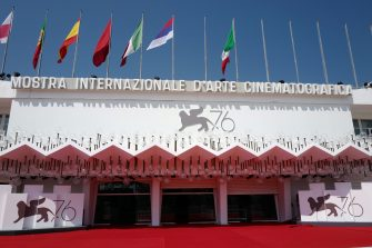VENICE, ITALY - AUGUST 27: Atmosphere (Palazzo del Cinema) during the 76th Venice Film Festival at  on August 27, 2019 in Venice, Italy. (Photo by Daniele Venturelli/WireImage,)