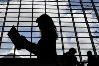 Visitors view books on May 9, 2019 at the Turin International Book Fair in Turin. (Photo by Marco Bertorello / AFP)        (Photo credit should read MARCO BERTORELLO/AFP via Getty Images)
