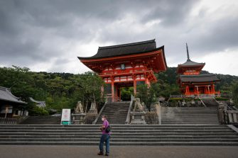 epa08442503 A man wearing a face mask visits Kiyomizudera temple in Kyoto, western Japan, 25 May 2020. Japan on 25 May is expected to end its nationwide state of emergency by lifting it in remaining areas including the capital Tokyo. The world's third-biggest economy is set to reopen gradually as the number of new infections decline day by day.  EPA/DAI KUROKAWAA