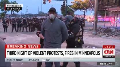 Proteste George Floyd, arrestato e rilasciato giornalista Cnn. VIDEO