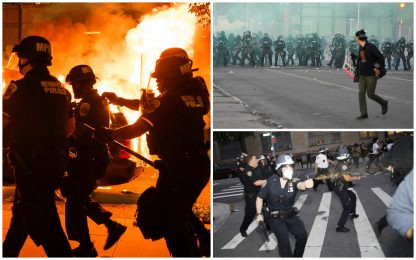 Morte George Floyd, proteste e disordini nelle città degli Usa. FOTO