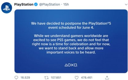George Floyd, Sony annulla l'evento per la Playstation 5