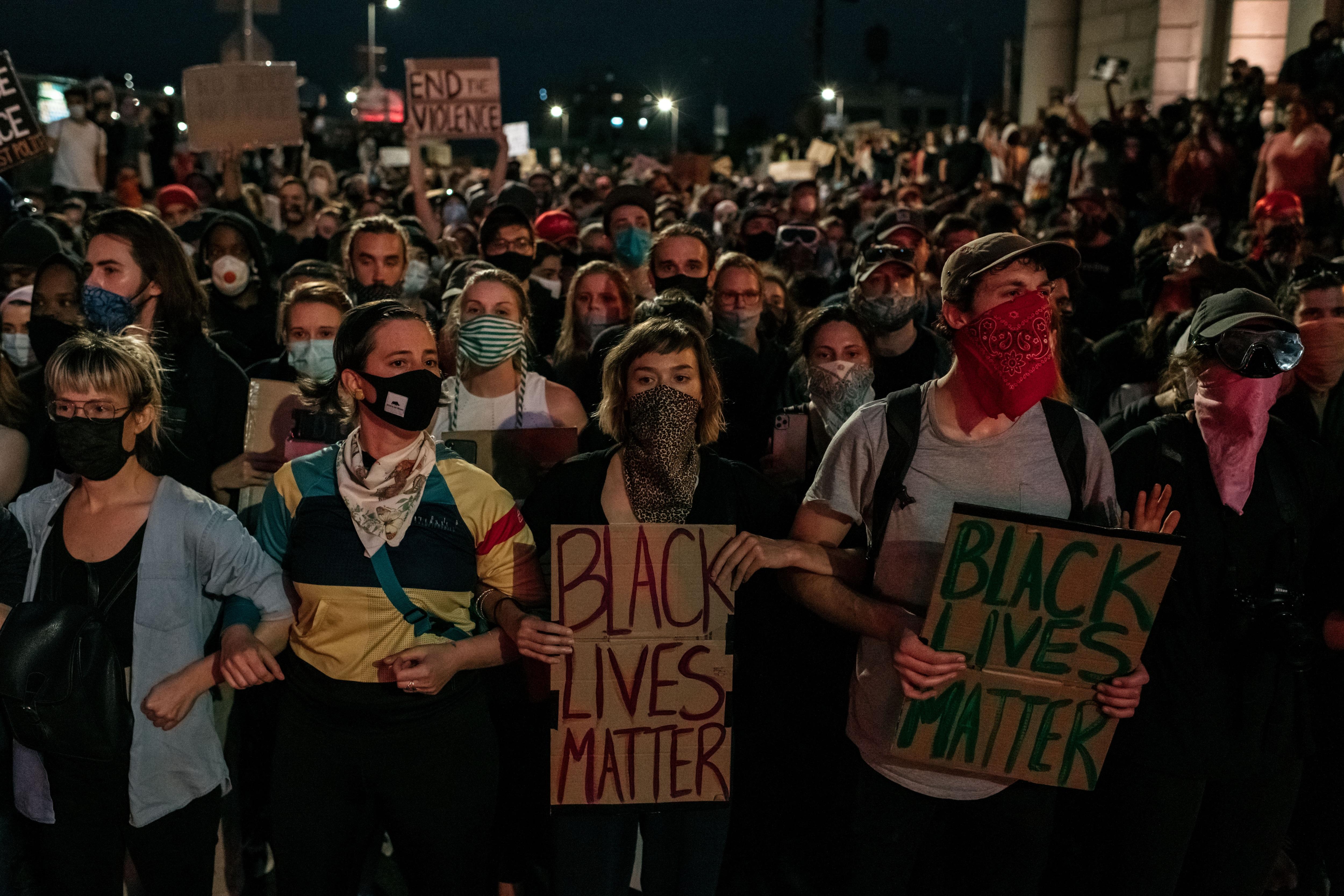 Proteste per George Floyd a New York