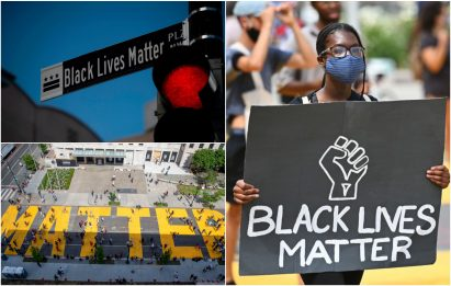 "Morte Floyd, a Washington la grande scritta ""Black Lives Matter"": FOTO"