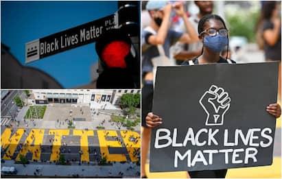 "Morte Floyd, a Washington la grande scritta ""Black Lives Matter"": FOTO"