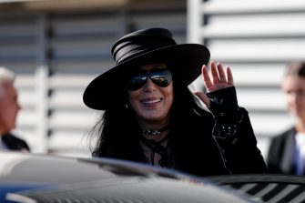 SYDNEY, AUSTRALIA - FEBRUARY 28:  American singer and actress Cher arrives at the Sydney International Airport on February 28, 2018 in Sydney, Australia. Cher is in Australia to headline the 40th anniversary of the Sydney Gay and Lesbian Mardi Gras party.  (Photo by Brook Mitchell/Getty Images)