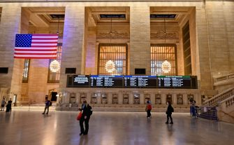 A light Monday morning rush hour is seen at Grand Central Station on June 8, 2020 in New York City. (Photo by Angela Weiss / AFP) (Photo by ANGELA WEISS/AFP via Getty Images)
