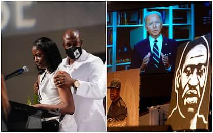 """Floyd, funerali a Houston. Biden: """"È l'ora della giustizia razziale"""""""
