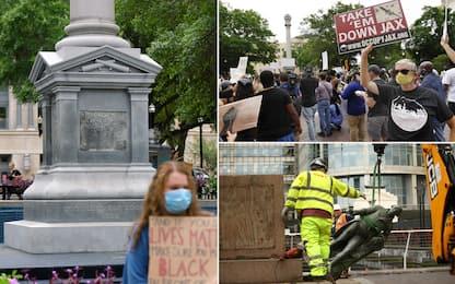 George Floyd, da Uk a Usa rimosse le statue dei confederati. FOTO