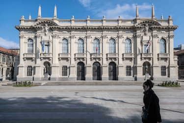 Politecnico ai tempi del corona virus, Milano (Francesco Bozzo/Fotogramma, Milano - 2020-03-06) p.s. la foto e' utilizzabile nel rispetto del contesto in cui e' stata scattata, e senza intento diffamatorio del decoro delle persone rappresentate
